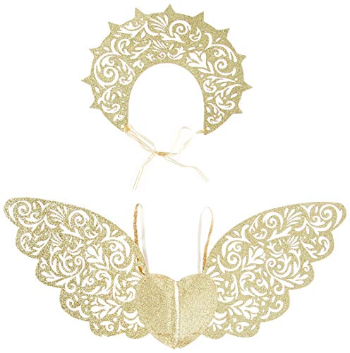 Leg Avenue Women's 2 PC Golden Angel Accessories, Gold, O/S -