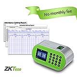 ZKTeco CT10 Desktop Fingerprint Time Clock Biometric Time Attendance Machine System Employee Recorder Small Business
