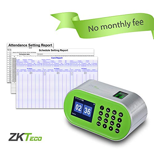 Price comparison product image ZKTeco Desktop Fingerprint Time Clock Biometric Attendance Machine System Employee Recorder for Small Business No Installation Need