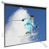 100'' 4:3 Electric Remote Control Projection Screen HD Movie Theater Matte White
