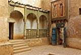 LFEEY 7x5ft Morocco Abandoned Town Backdrop Old Ancient Deserted City Ruin Architecture Building Grunge Stone Wall Photography Background Travel Photo Studio Props