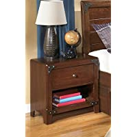 Signature Design by Ashley Delburne Medium Brown One Drawer Nightstand