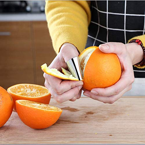 Avoid Hurting When Slicing Stainless Steel Finger Guard Cutting Protector Finger Guard Kitchen Safe Slice Tool Chopping Dicing by Tsuen 6Pack Finger Guard for Cutting Finger Hand Protector Guard