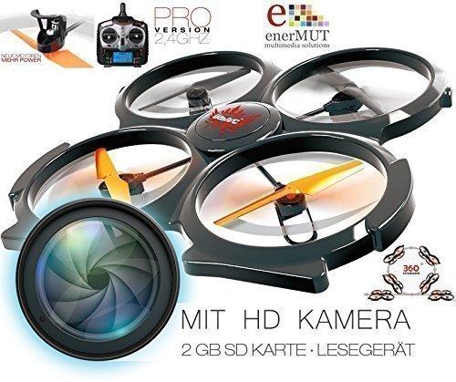 XXL RC Drohne UDI U829A HD MIT HD KAMERA / QUADROKOPTER / UFO / DROHNE MIT BAMPER 2,4GHZ / NACHFOLGER U829A / NEUHEIT Apr. 2015