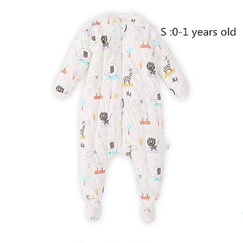LIKEZZ Piernas para bebés Saco de Dormir Engrosamiento bebé antipatadas es otoño e Invierno Pijamas con