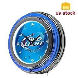 Thegood88 Officially Licensed - Bud Light Neon Wall Clock - 14 In. with AC Adapter