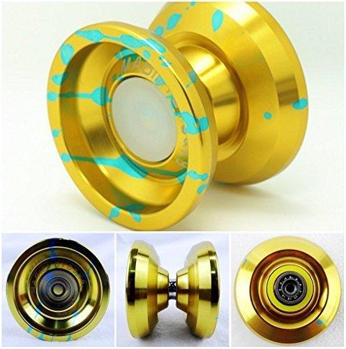MAGICYOYO K9 Aluminum Alloy Yoyo Spin Toys Gold&Blue by MAGICYOYO