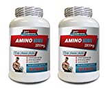 Muscle Pump Supplements - TOP Amino Acids 2200 mg - Amino Acids Bodybuilding - 2 Bottles 300 Tablets
