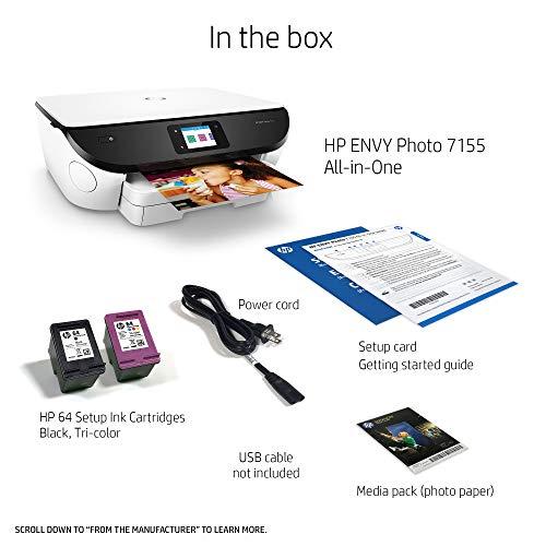 HP 7155 All in Printer Wireless HP Amazon Dash Replenishment ready - White