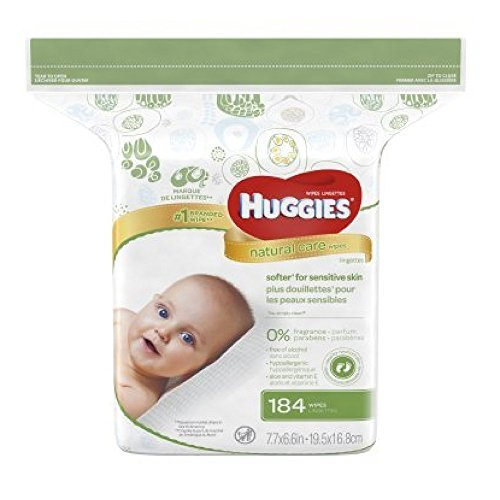 HUGGIES Natural Care Fragrance-Free Wipes 184 ea (Pack of 12)