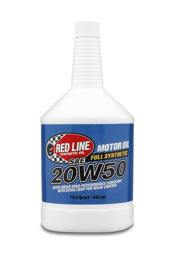 Red Line 12504 20W50 Synthetic Oil - 1 Quart Bottle (Pack of 4)