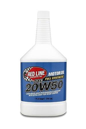 Línea roja 20 W50 aceite de motor - Quart (funda de 12 ...