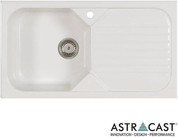Astracast Noue 1.0 Bol évier de cuisine en céramique Blanc ...
