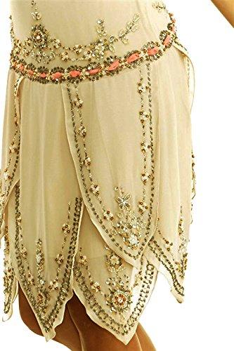 Charleston Top XS Grade Bees Knees Tan Dress Sandcastle Flapper CSDttT XL gwYa1qaz