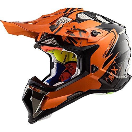 LS2 Helmets Motorcycle & Powersports Helmet's Off-Road Subverter (Emperor Orange, XX-Large)