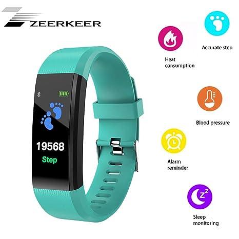 ZEERKEER Smartwatch, rastreadores de Ejercicios, Monitor de ...