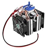 DIY Mini Dual-core Electric Semiconductor Cooler Module Thermoelectric Peltier Refrigerator Radiator Fish Tank Cooler Fan Cooling System(120W for 30L Fish Tank)