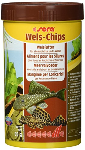 (Sera Catfish Chips Wafers with Wood Fish Food, 3.3 Ounce Container)