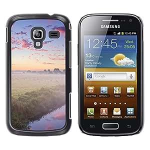 Be Good Phone Accessory // Dura Cáscara cubierta Protectora Caso Carcasa Funda de Protección para Samsung Galaxy Ace 2 I8160 Ace II X S7560M // Nature Foggy Forrest