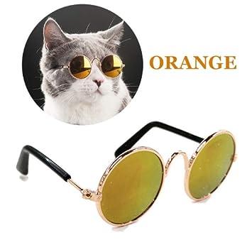 Amazon.com: Stock Show - Gafas de sol redondas de metal para ...