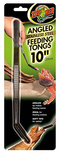 Zoo Med Labs Angled Stainless Steel Feeding Tongs, 10""