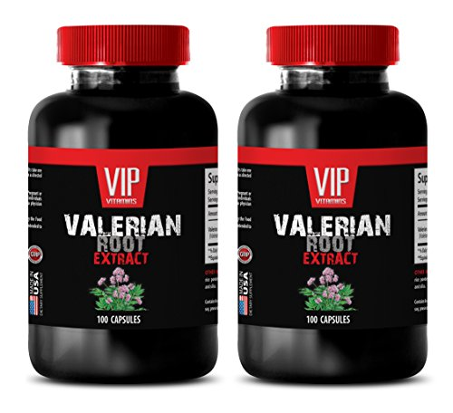 blood pressure natural supplements - VALERIAN ROOT EXTRACT 125MG - valerian natures answer - 2 Bottles (200 Capsules) by VIP VITAMINS