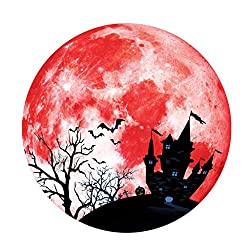 Sharon Church Creative Luminous Moon Wall Sticker Halloween Decoration Sticker Castle Bat Throw Cushion Gifts Posters Cartoons Pillow Christmas Sofas Couches