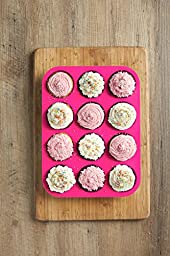 12 Cup, Non Stick, Premium Silicone Muffin Mold & Cupcake Pan/Silicone Baking Molds/Baking Cups