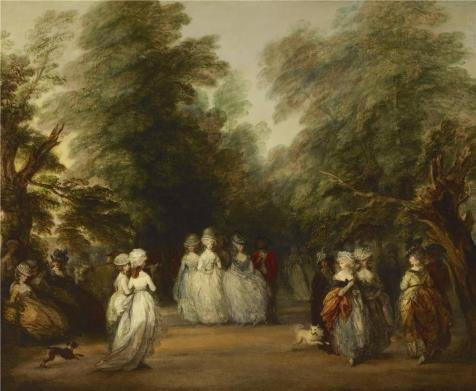 Oil Painting 'Thomas Gainsborough - The Mall In St. James's Park, 1783' Printing On High Quality Polyster Canvas , 8x10 Inch / 20x25 Cm ,the Best Laundry Room Decor And Home Artwork And Gifts Is This Cheap But High Quality Art Decorative Art Decorative Canvas Prints