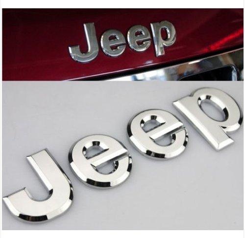 4agegarage® Chrome Trunk Emblem Hood Badge Sticker For Aftermarket jeep Off Road