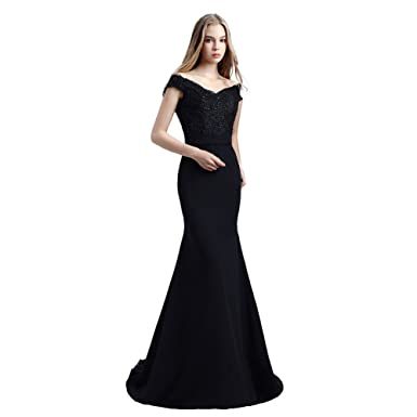 Off The Shoulder Sexy Mother of The Bride Dresses Lace Long Evening Dresses