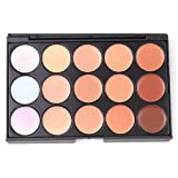 NAVADEAL 15 Colors Cosmetic Concealer Corrector Foundation Palette Primer Face FeaContour Shadow Makeup Plate
