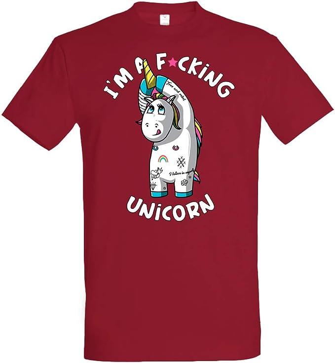 Pampling Camiseta Real Unicorn - Unicornio - 100% Algodón - Serigrafía