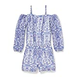 The Children's Place Big Girls' Long Sleeve Romper, Simplywht 5843, M (7/8)