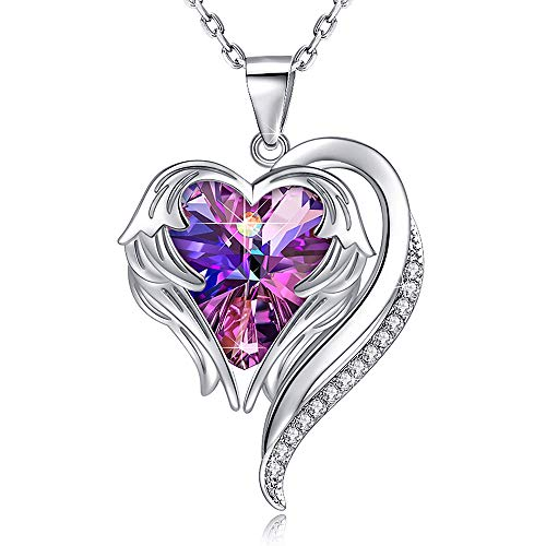 (Heart Crystal Necklace for Women - 18