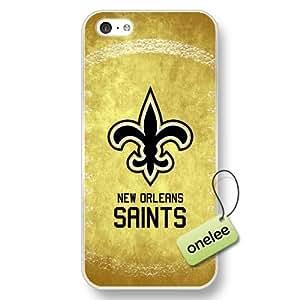 NFL New Orleans Saints Team Logo iPhone 5c Transparent Hard Plastic Case Cover - Transparent