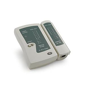 Incutex Comprobador de cable LAN Tester cables red RJ45 RJ11 kit de probador de cable