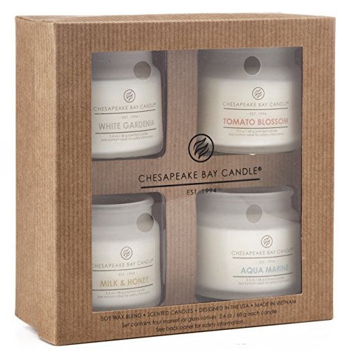 Chesapeake Bay Candle Heritage Collection Votive Scented Candles  Set Of 4