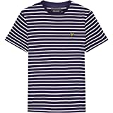 Lyle & Scott Breton Stripe Mens T-Shirt Z535 Navy/Snow White XL