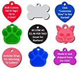 Bulk Personalized Pet ID Tags for Rescues, Shelters, Humane Societies | As Low As $2.46 Per Tag! (50-Pack ($2.78 per tag))