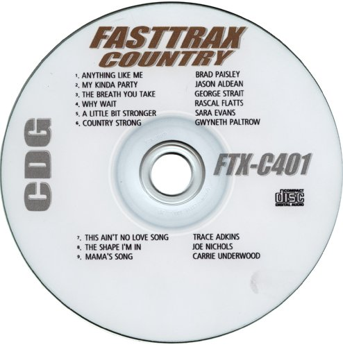 Fasttrax Country Karaoke Ftx-c401 January 2011 (Formerly Quik Hitz)