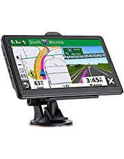 GPS Navigation for Car, Latest 2021 Map 7 inch Touch Screen Car GPS 256-8GB, Voice Turn Direction Guidance, Support Speed and Red Light Warning, Pre-Installed North America Lifetime map Free Update?