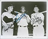 Roger Maris , Willie Mays & Mickey Mantle 8 x 10 photo Baseball Legends