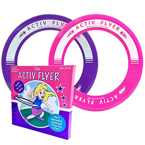 Great Birthday Present (Super Cool Kid's Frisbee Rings [2 PACK] Best Toys for Girls & Boys Birthday Presents and Party Gifts - Play Ultimate Inside & Outdoor Games at School Gym, Disc Golf)