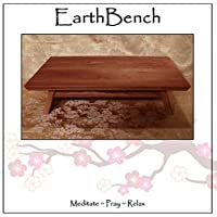 EarthBench Shrine Table - Large-size Petite Floor Altar (7 inches tall ~ 23.5 by 13.5) - Solid NORTHERN CHERRY - for Meditation, Prayer, or Contemplative Studies.