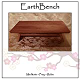 """EarthBench Shrine Table - Petite Floor Altar (5"""" inches tall) - Solid NORTHERN CHERRY Construction for Meditation, Prayer, or Contemplative Studies."""