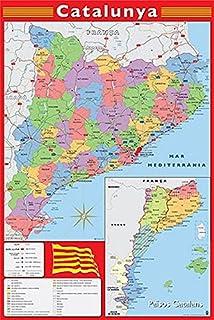 Catalunya 2017-2018: Mapa de carreteres Escala 1:250.000: Amazon ...