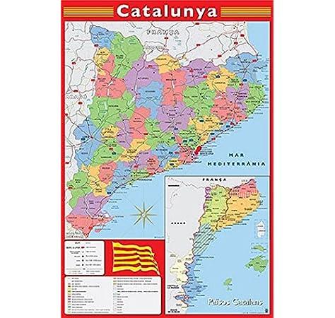 Grupo Erik Editores Poster Mapa Catalunya: Amazon.es: Oficina y papelería