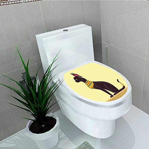 Analisa A. Houk Toilet Sticker Egypt Time Cat Jewelry Light Yellow Mustard Plum Home Decor Applique Papers W8 x L11