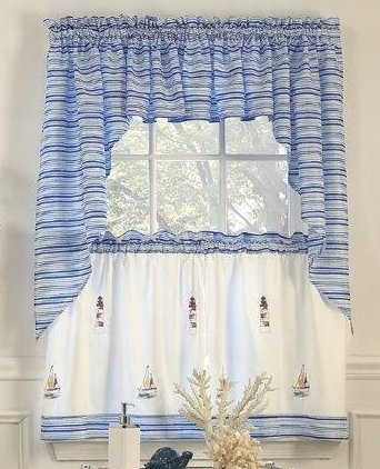Annapolis Swag (Lighthouse Kitchen Curtains)
